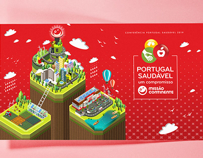 Isometric Illustration for Healthy food Conference