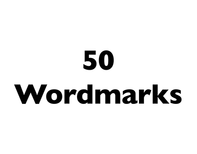 50 Wordmarks