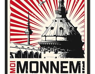 """Poster """"Moi Monnem"""" (screen print style)"""