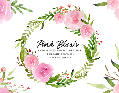 PINK BLUSH - FREE WATERCOLOR FLORAL GRAPHICS