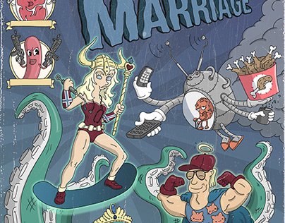 comic cover as a wedding gift