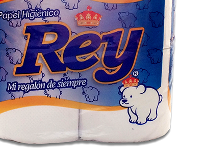Diseño Envase Papel Higiénico Rey