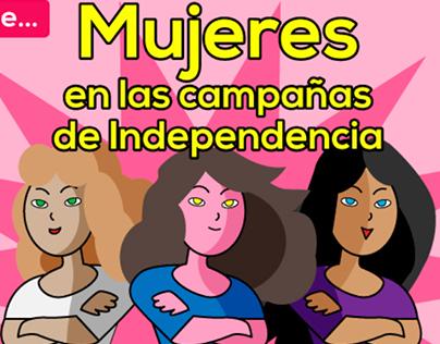 Infografía Mujeres Independencia Colombia