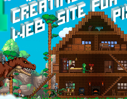 Web-design for the pixel game Planet Centauri