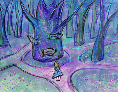Alice I  Wonderland illustration