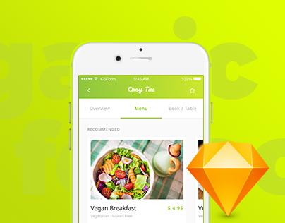 Organic Food UI Kit - 4 apps in 1 UI Kit