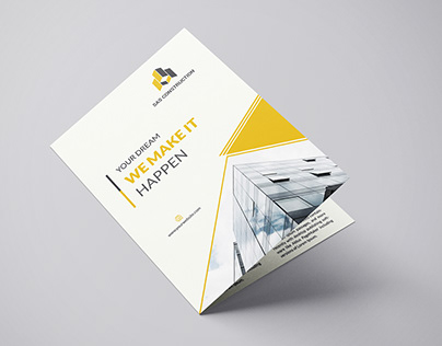 brochure design templates for construction company