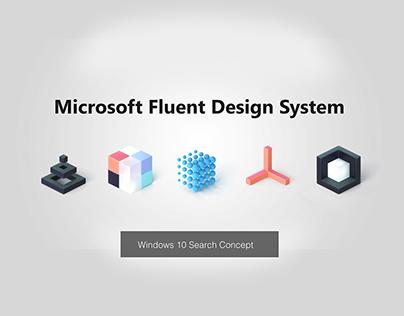 Microsoft Windows 10 Search Concept
