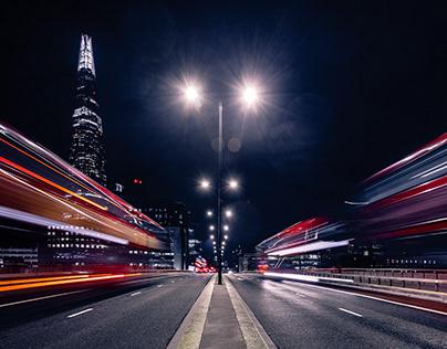 London night traffic