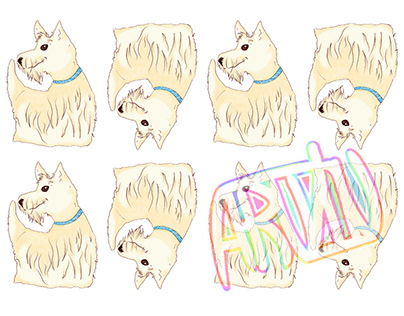 Scottish Terrier Pattern - Pascal Design