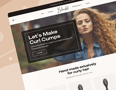 A Solution to Curly Hair. We Designed their site.