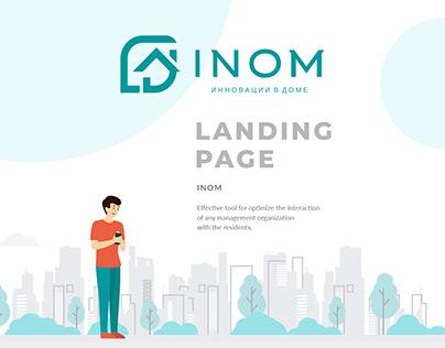 INOM | Landing Page Design