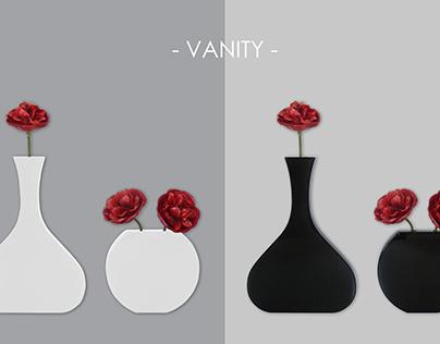 Vanity - saving space wall vases