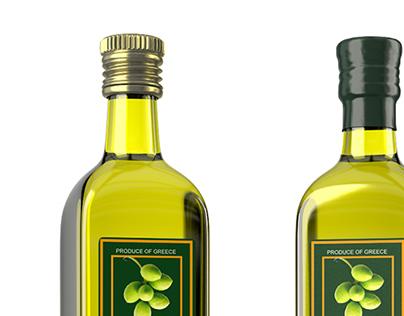 Olive Oil - 3D Packaging Visualisation
