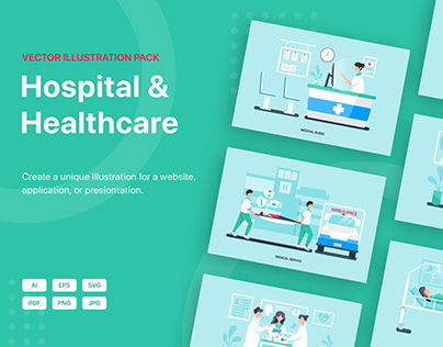 Healthcare Vector Scenes