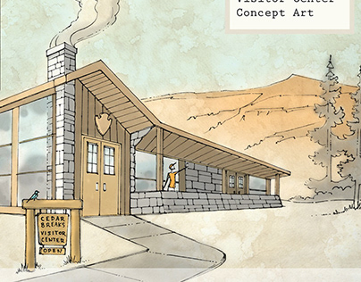 Cedar Breaks Visitors Center Concept Art. 2018