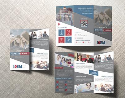 Cliente IDEM - Branding, Design Web, Brochure