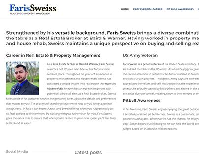 Faris Sweiss Personal Website