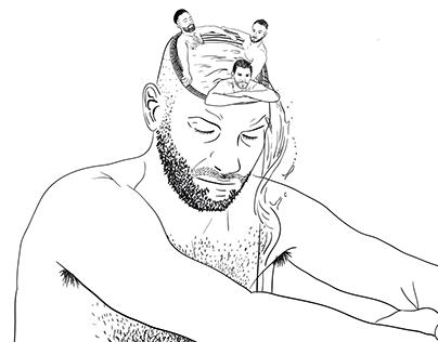 Black lines illustrations