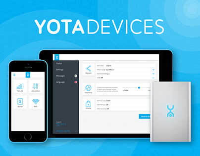 YotaRuby Wi-Fi/LTE Router Interface
