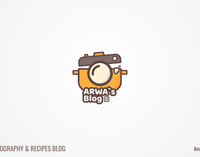 """logo for """" food photography & recipes blog """""""