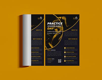 Sports flyer design