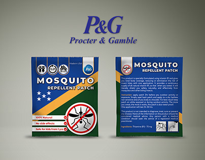 Design for repellent patches Procter and Gamble