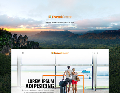 Concept design for TravelCenter Website