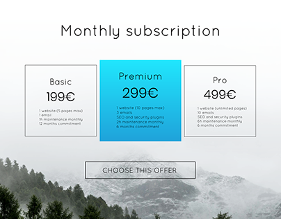 Pricing #DailyUI