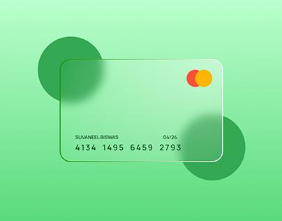 Glass Credit Card Design| UX UI Design