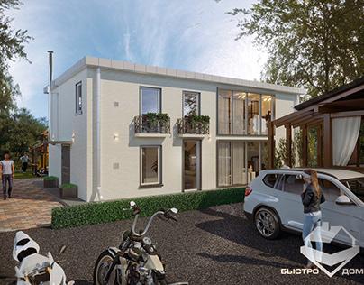 Частный дом 168 м2 в посёлке Романово-Лайф, Подмосковье