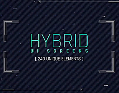 Hybrid Ui Screens(After Effects Project)
