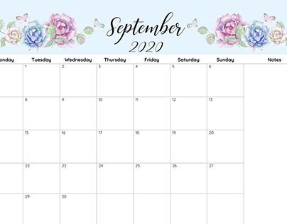September 2020 Calendar School