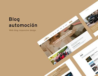 Web blog design - Automotive