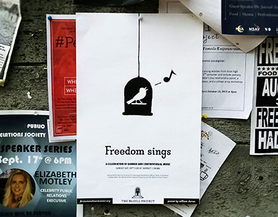 Freedom Sings event poster