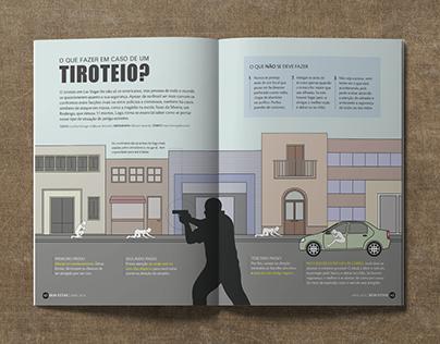 Infográfico • O que fazer em caso de um tiroteio?