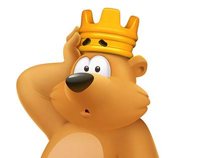 Bruno Bear Crown Loss Illustration