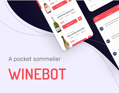 WineBot — Chatbot app for web and mobile