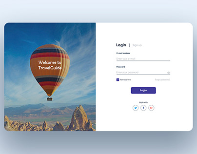 Login form | TravelGuide