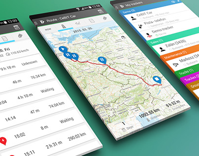 IneTrack mobile app design