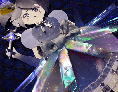 CELESTIAL NIGHT magical girl paper cut doll
