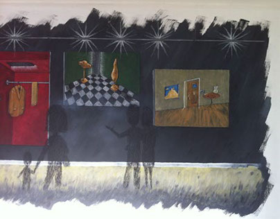 Mural on plasterboard