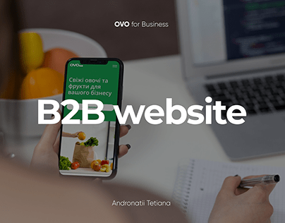 B2B сorporate website concept for OVO