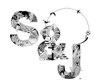 Digital Illustration: S&J Monogram