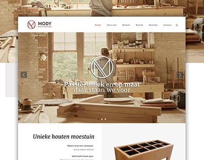 Mody Woodwork - Website concept design