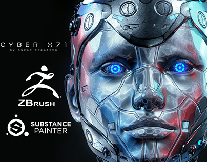 Cyber X71 Model free 3d - Zbrush By Oscar Creativo