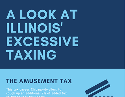 Illinois' Excessive Taxing Infographic | Ron Sandack