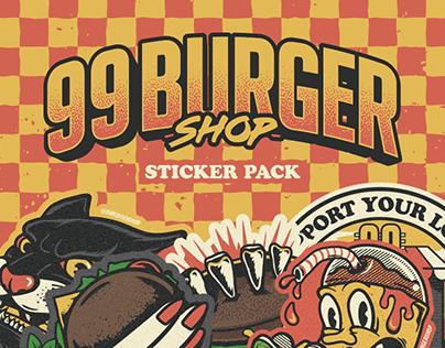 99 Burger - Sticker Pack