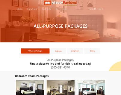 Furniture E-commerce Store Design / Development