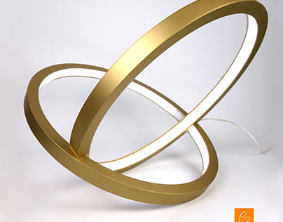 INFINITY table lamp in gold finishing